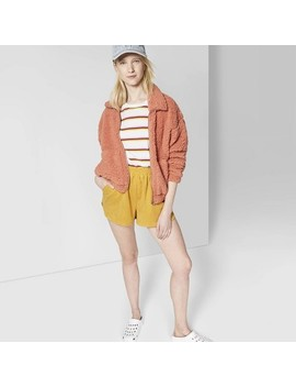 Women's High Rise Corduroy Pull On Shorts   Wild Fable™ Yellow by Wild Fable