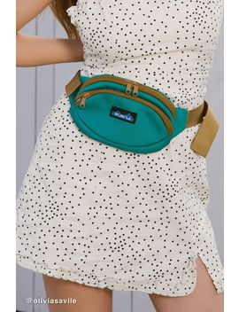 Kavu Spectator Teal Belt Bag by Kavu