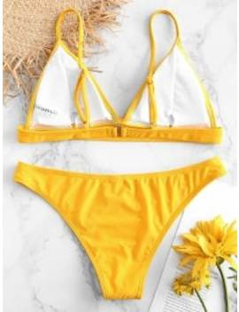 Hot Zaful Padding Bikini Set   Rubber Ducky Yellow L by Zaful