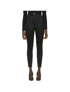 Black Jersey 'forever Fendi' Trousers by Fendi