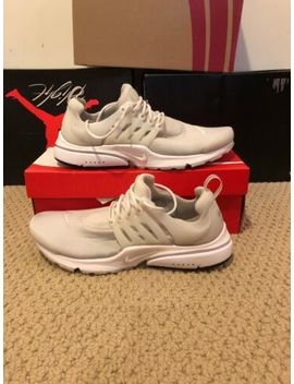 Nike Air Presto Essential Sz 9 Triple White 848187 100 by Nike
