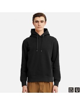 Men Uniqlo U Sweat Pullover Long Sleeve Hoodie by Uniqlo
