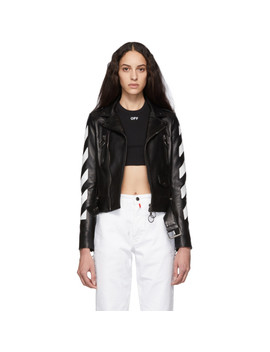 Black Diag Biker Jacket by Off White