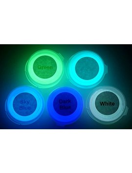 Neutral 5 Color Pack Glow In The Dark Pigment Powder   12g Each, 60g Total by Art 'n Glow