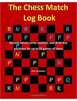 The Chess Match Log Book: Record Moves, Write Analysis, And Draw Key Positions For Up To 50 Games Of Chess by Chris Mc Mullen