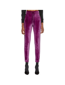 Purple Logo Tape Lounge Pants by Marcelo Burlon County Of Milan
