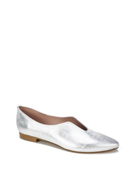 Kade Metallic Leather Pointed Flat by Summit From Italy