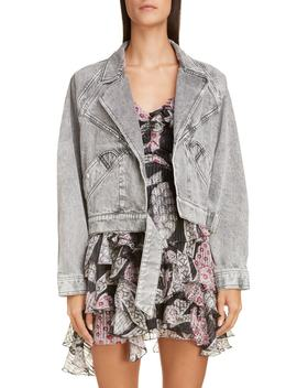 Acid Wash Crop Denim Jacket by Isabel Marant