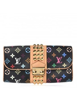 Louis Vuitton Multicolor Courtney Clutch Noir Black by Louis Vuitton