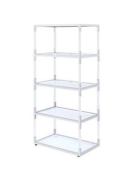 Acme Furniture 91246 Raegan Bookshelf With Glass by Acme Furniture