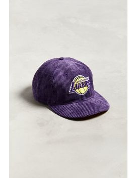 New Era Los Angeles Lakers Retro Corduroy Snapback Hat by New Era