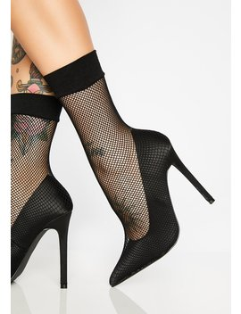 Luna Poisonous Fishnet Heels by