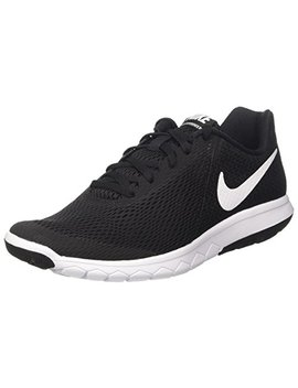 Nike Womens Flex Experience Rn 6 Running Shoe Black/White 6 by Nike