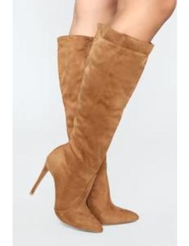 You're My Weakness Boots   Chestnut by Fashion Nova