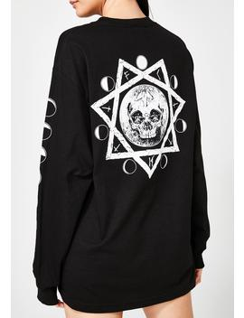 Bad Moon Long Sleeve Tee by Flying Coffin