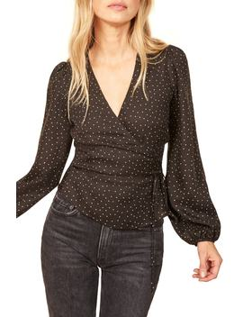 Alaina Wrap Top by Reformation