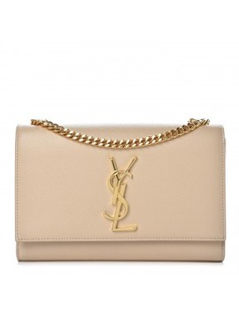 Saint Laurent Grain De Poudre Medium Monogram Kate Satchel Nude Powder by Yves Saint Laurent