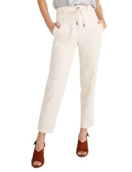 Tie Waist Tapered Pants by Madewell