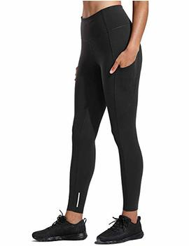 Crz Yoga Women's Naked Feeling High Waist Out Pocket Stretchy Running Leggings by Amazon