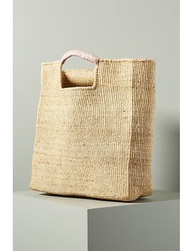 Gus Raffia Tote Bag by Indego Africa