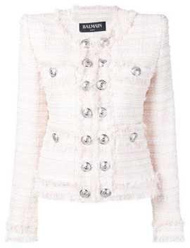 Oversized Button Tweed Jacket by Balmain