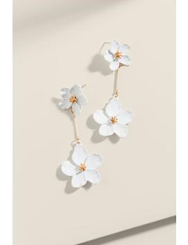 Calla Linear Flower Earrings by Francesca's