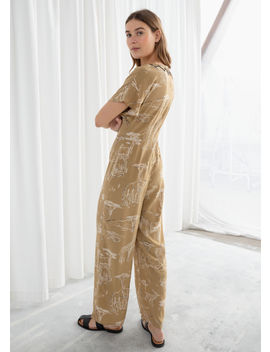 Safari Print Jumpsuit by & Other Stories