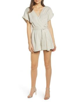 Line Belted Cotton & Linen Romper by Noisy May