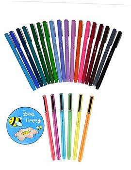 24 Pack Of Le Pen Colors (Le Pens + Fridge Magnet) Authentic Uchida Of America Le Pens by Amazon