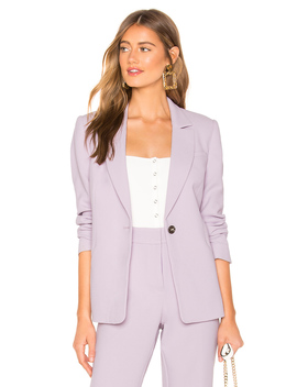 Textured Crepe One Button Blazer by 1. State