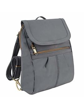 Travelon Anti Theft Signature Slim Backpack, Pewter by Travelon