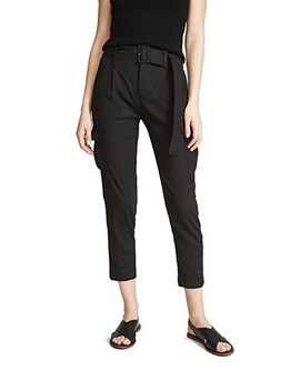 Belted Linen Pants by Vince
