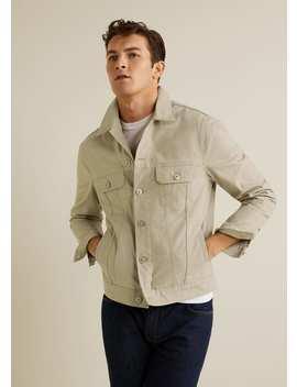 Beige Denim Jacket by Mango