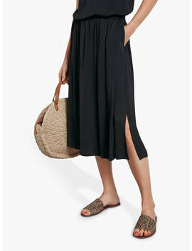 Hush Santana Midi Skirt, Black by Hush