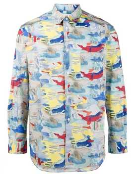 All Over Print Long Sleeve Shirt by Comme Des Garçons Shirt