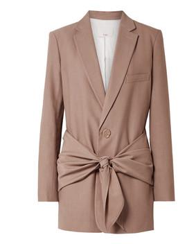 大廓形斜纹布西装式外套 by Tibi