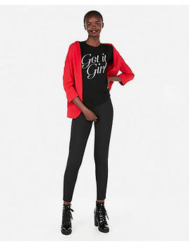 Express One Eleven Get It Girl Slim Graphic Tee by Express