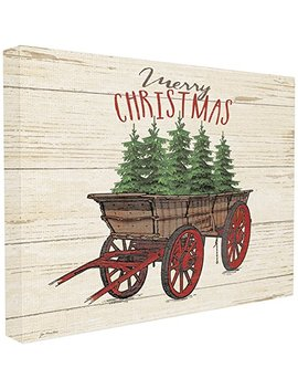 Stupell Industries Merry Christmas Tree Wagon Xxl Stretched Canvas Wall Art, Proudly Made In Usa by The Stupell Home Décor Collection