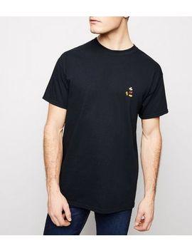 Schwarzes Oversize T Shirt Mit Aufgesticktem Mickey Mouse Motiv by New Look
