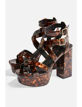 Radical Tortoiseshell Platform Heels by Topshop