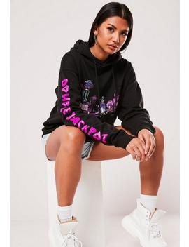 Black Double Jackpot Graphic Hoodie by Missguided