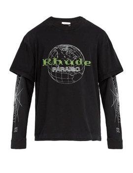 Paraiso Globe Print Long Sleeved T Shirt by Rhude