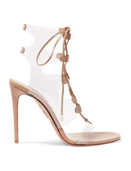 Milos 105 Leather And Pvc Sandals by Aquazzura