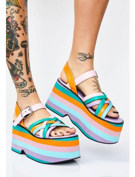 Candy Crush Platform Sandals by Current Mood