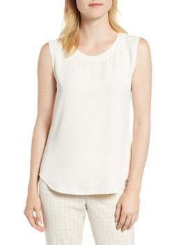 Crepe Tank by Anne Klein