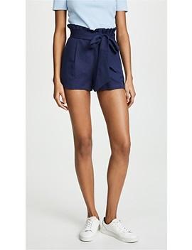 Linen Tie Waist Shorts by Valencia & Vine