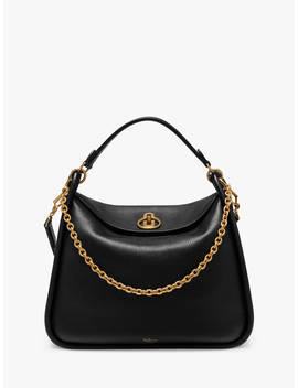 Mulberry Leighton Small Classic Grain Leather Shoulder Bag, Black by Mulberry