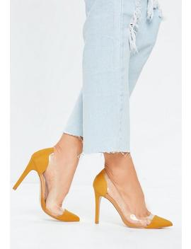 Yellow Covered Toe Clear Court Heels by Missguided
