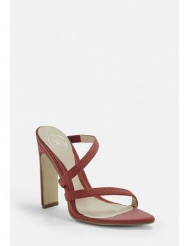 Terracotta Pointed Toe Barely There Heels by Missguided