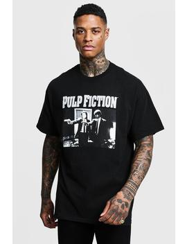 Pulp Fiction Mono Print License Oversized T Shirt by Boohoo